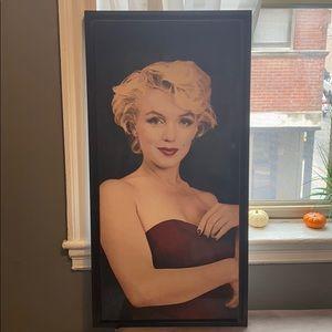 "39 1/2"" X 19 3/4"" Marilyn Monroe wall art"